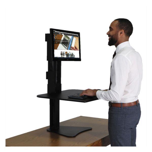 Victor High Rise Standing Desk Workstation, 28 x 23 x 15 1/2, Black