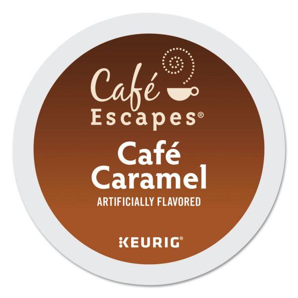 Café Escapes Café Caramel K-Cups, 24/Box