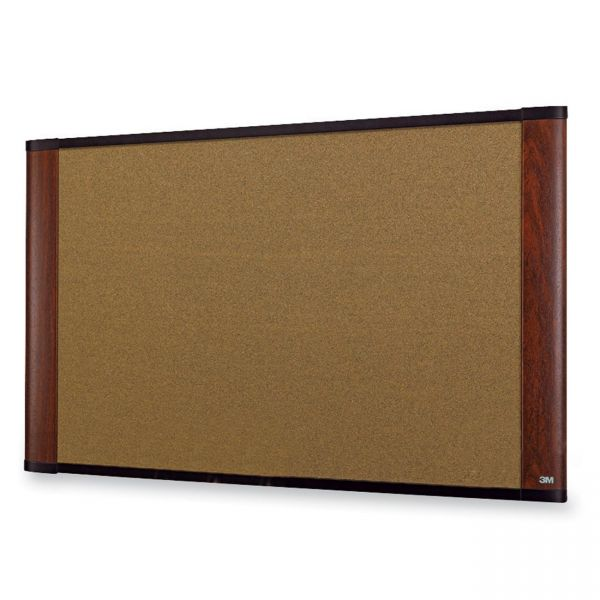 3M Wide-Screen Style Cork Bulletin Board