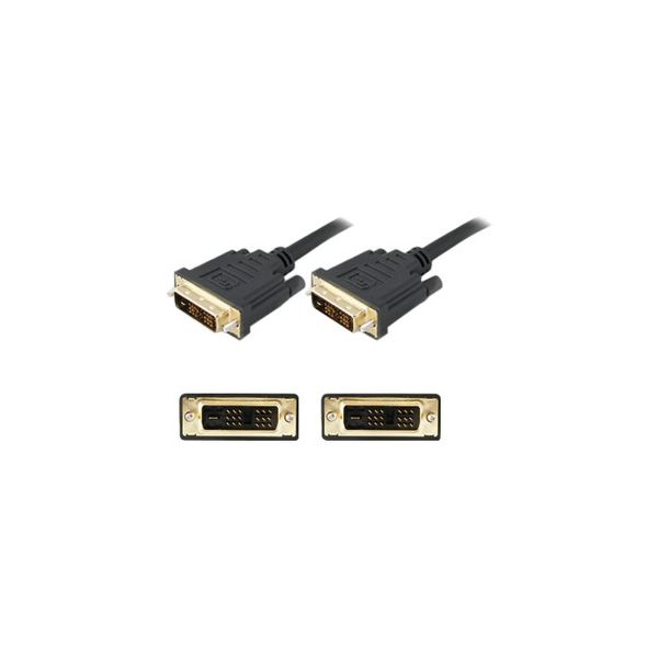 AddOn 1.82m (6.00ft) DVI-D Dual Link (24+1 pin) Male to Male Black Cable