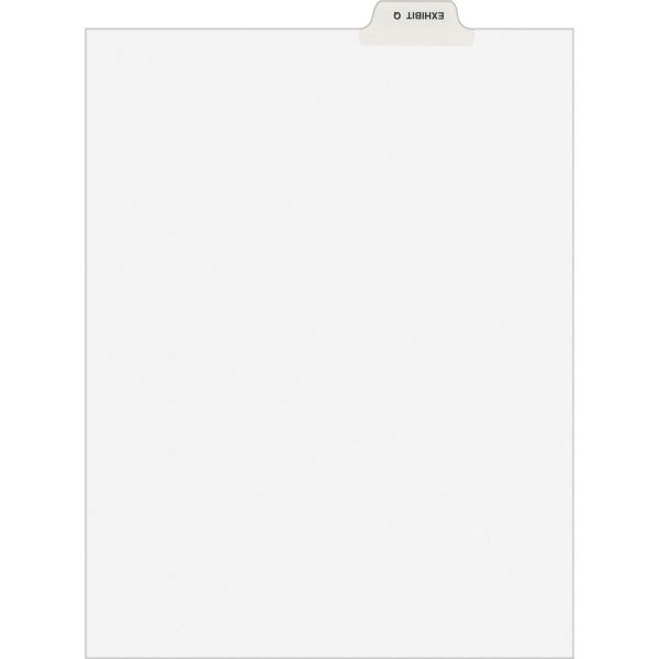 Avery-Style Preprinted Legal Bottom Tab Dividers, Exhibit Q, Letter, 25/Pack