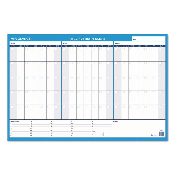 At-A-Glance Undated Erasable Wall Planner