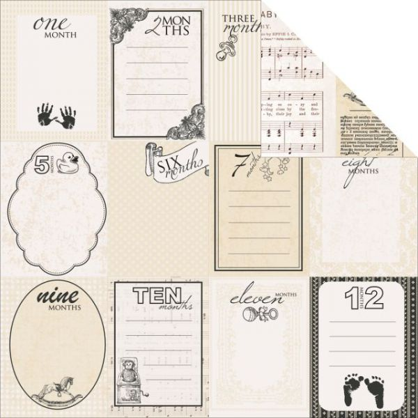 "Pitter Patter Double-Sided Cardstock 12""X12"""