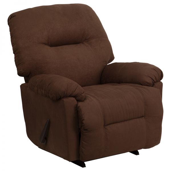 Flash Furniture Contemporary Calcutta Chocolate Microfiber Chaise Rocker Recliner