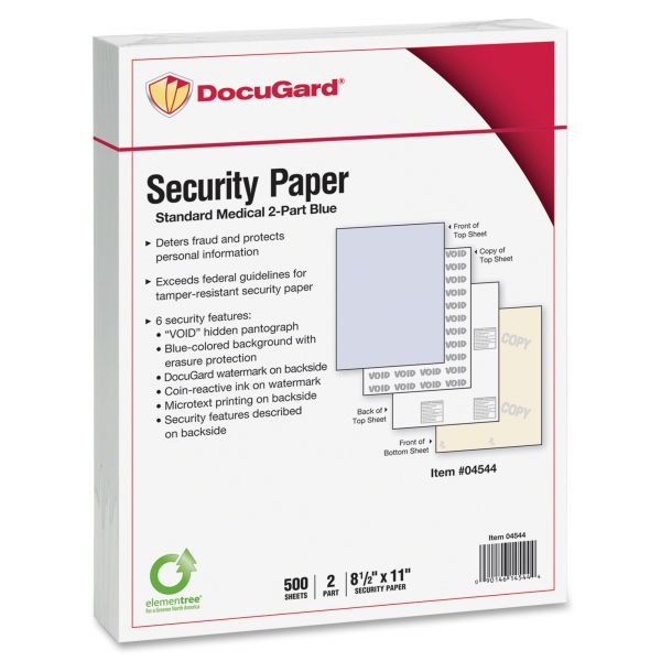 DocuGard 2-Part Carbonless Security Computer Paper