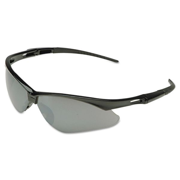 Jackson Safety* Nemesis Safety Glasses, Black Frame, Amber Lens