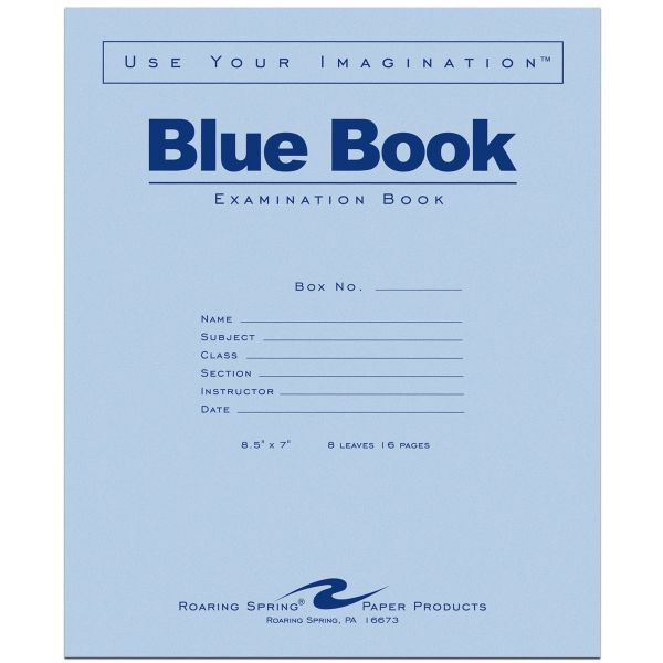 Roaring Spring Blue Book 8-sheet Exam Booklet