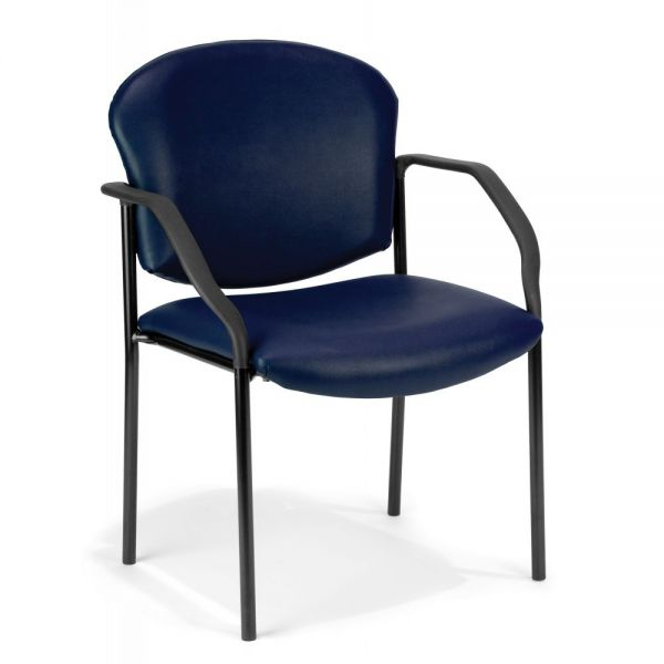 OFM Manor Series Anti-Microbial/Anti-Bacterial Vinyl Guest/Reception Chair with Arms