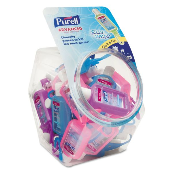 Purell Travel Size Jelly Wrapped Instant Gel Hand Sanitizer Bracelets In Bowl