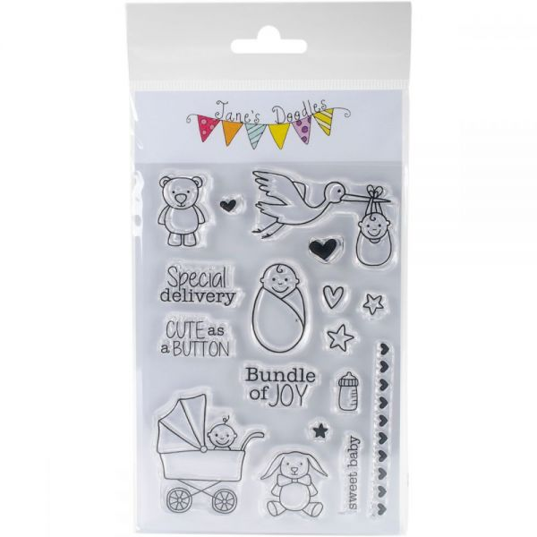 """Jane's Doodles Clear Stamps 4""""X6"""""""