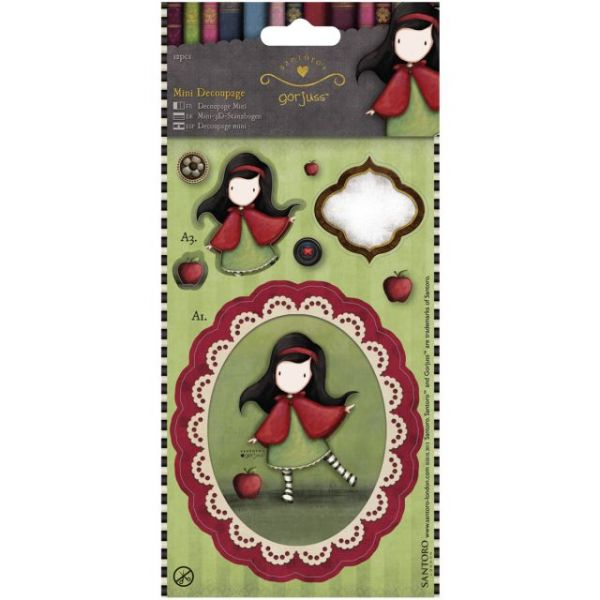 Simply Gorjuss Mini Decoupage 12/Pkg