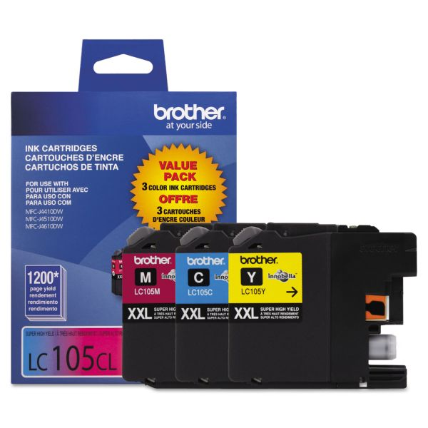 Brother LC105CL Color Super High Yield Ink Cartridges