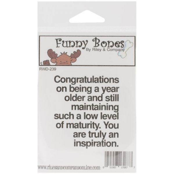 "Riley & Company Funny Bones Cling Mounted Stamp 2""X2.5"""
