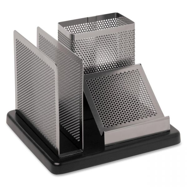 Rolodex Distinctions Wood Base Desktop Organizer