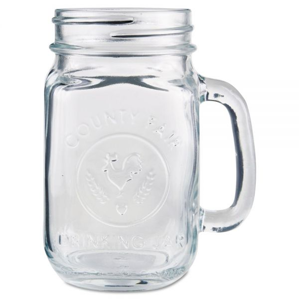 Libbey 16.5 oz Glass Drinking Jars