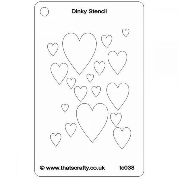 "That's Crafty Dinky Stencil 3""X4.75"""