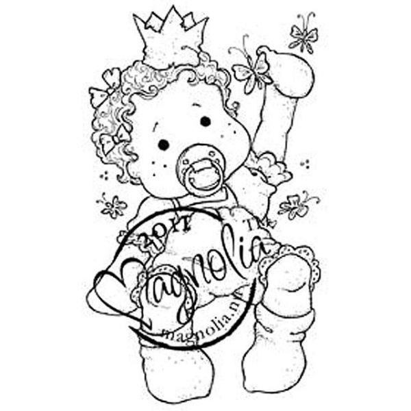 "Princes & Princesses Cling Stamp 6.5""X3.5"" Package"