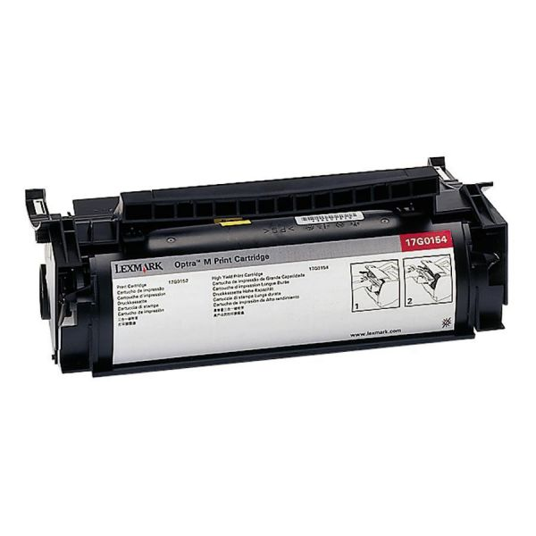 Lexmark 17G0154 Black High Yield Toner Cartridge