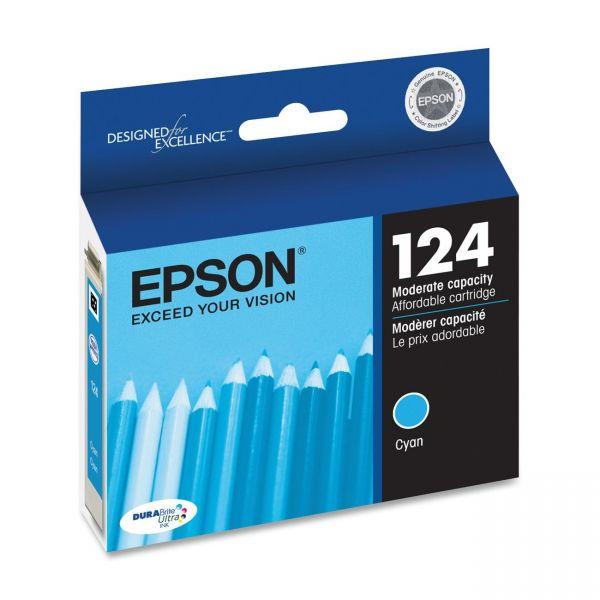 Epson 124 Cyan Ink Cartridge (T124220)