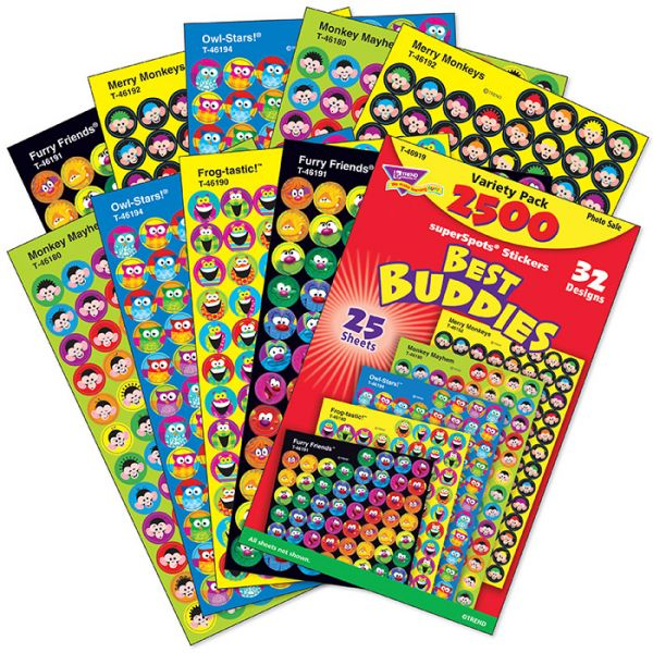 Trend Best Buddies Collection superSpots Stickers Variety Pack