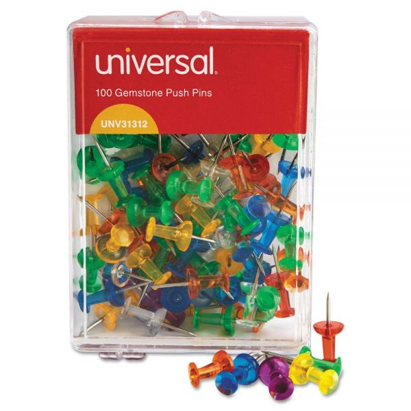 Universal Gemstone Color Push Pins