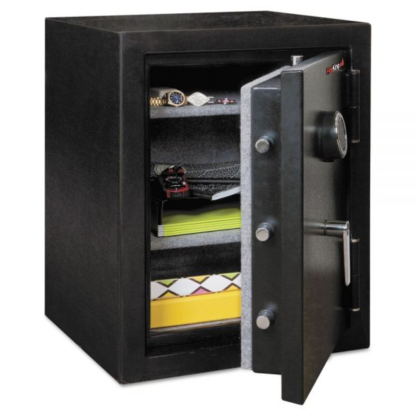 FireKing Half Hour Fire and Water Safe, 4.02 cu. ft., 21 3/5 x 19 x 27 1/4, Black