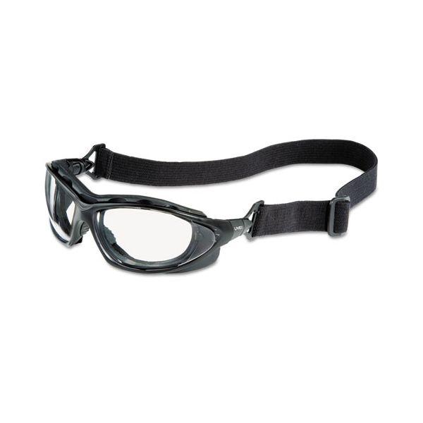 Honeywell Uvex Seismic Sealed Eyewear, Clear Uvextra AF Lens, Black Frame