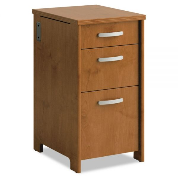 Office Connect by bbf Envoy Series Three-Drawer Pedestal, 16w x 20d x 30-1/4h, Natural Cherry by Bush Furniture