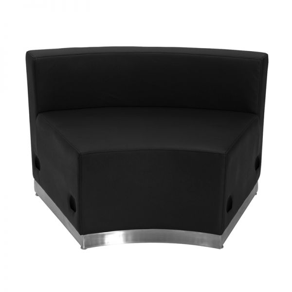Flash Furniture Alon Series Black Leather Concave Chair