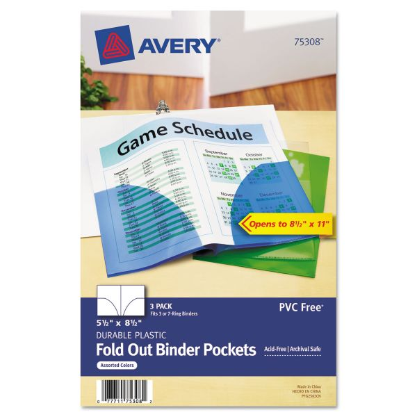 Avery Small Fold-Out Binder Pockets
