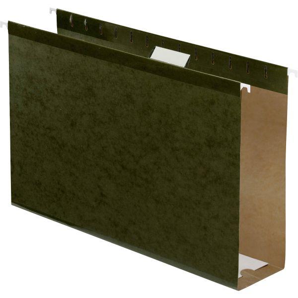 "Pendaflex Reinforced 3"" Extra Capacity Hanging Folders, Legal, Standard Green, 25/Box"