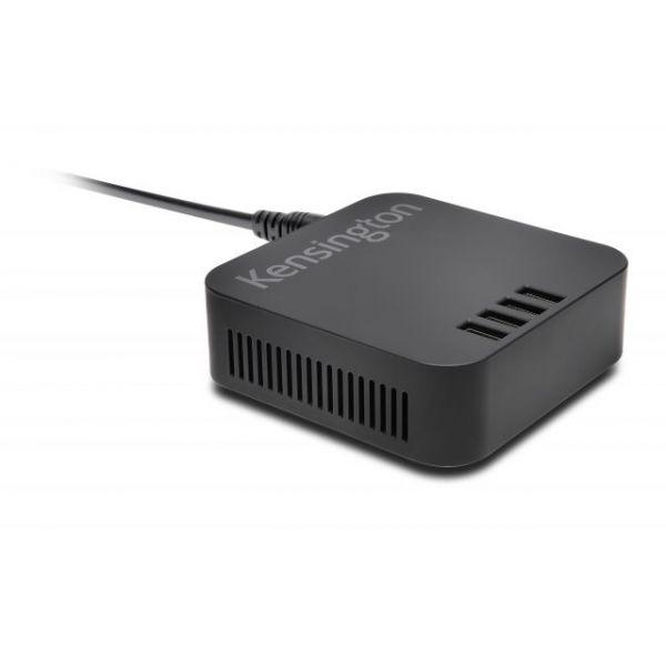 Kensington 48W 4-Port USB Charger - Black