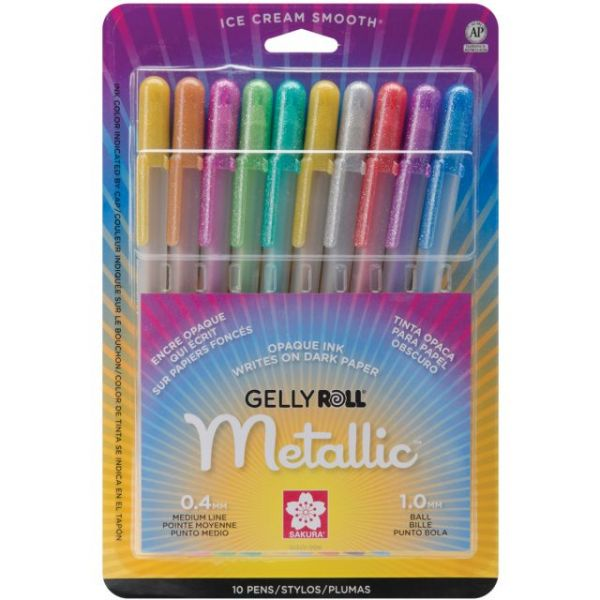 Gelly Roll Metallic Medium Point Pens 10/Pkg
