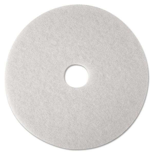 3M White Super Polish Floor Pads 4100