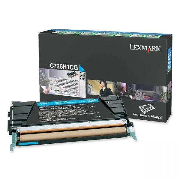 Lexmark C736H1CG Cyan High Yield Return Program Toner Cartridge
