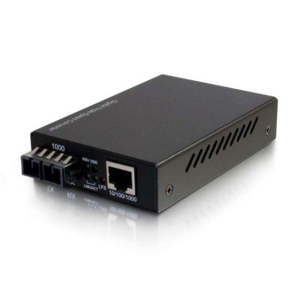 C2G 10/100/1000 Base-Tx to 1000Base SC SC Gigabit Media Converter