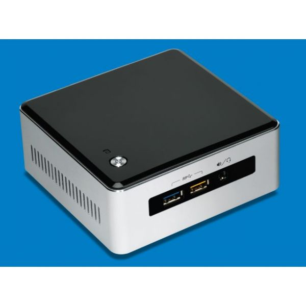 Intel NUC5i5RYH Desktop Computer - Intel Core i5 i5-5250U 1.60 GHz - Mini PC - Silver, Black