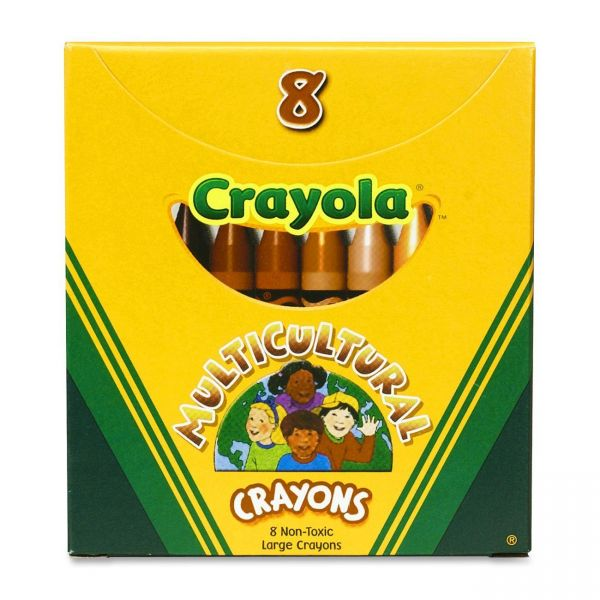 Crayola Multicultural Large-Size Crayons