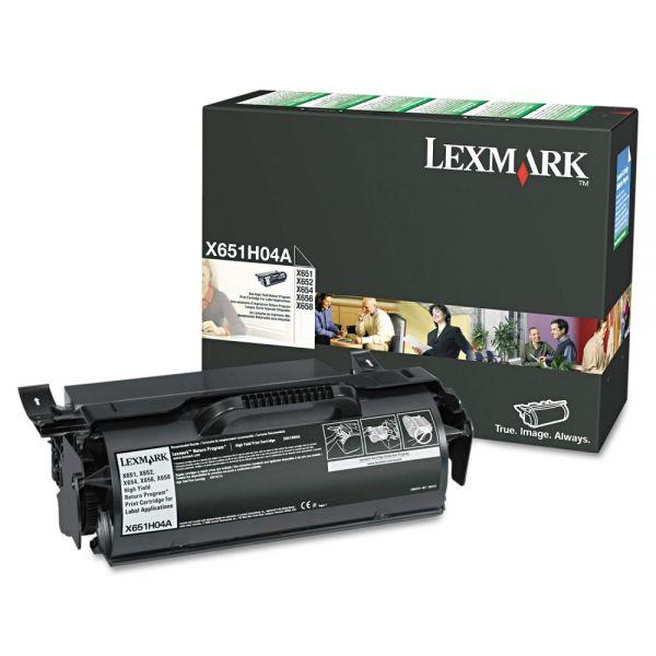 Lexmark X651H04A Black High Yield Return Program Toner Cartridge