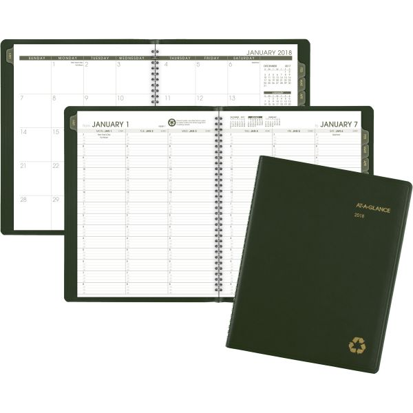 At-A-Glance Recycled Weekly/Monthly Appointment Book