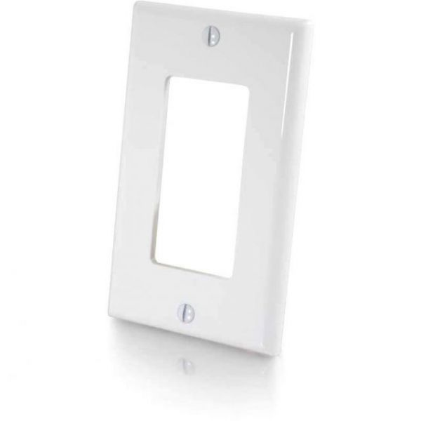 C2G Leviton Decora Single Gang Wall Plate-White
