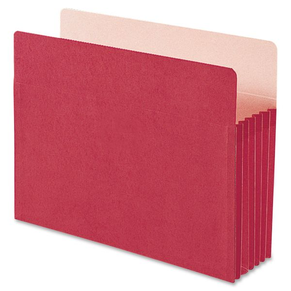 Smead 73241 Red Colored Expanding File Pocket