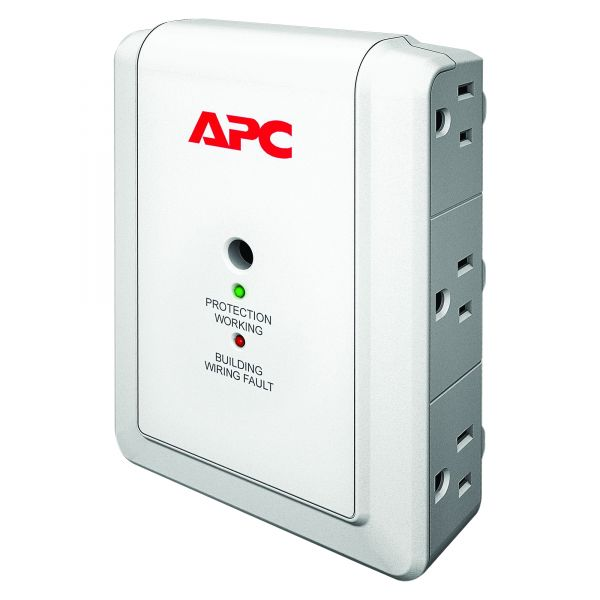 APC by Schneider Electric SurgeArrest Essential P6W 6-Outlets Surge Suppressor