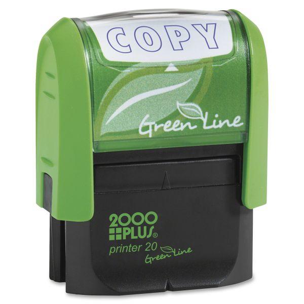 COSCO 2000PLUS Green Line Message Stamp, Copy, 1 1/2 x 9/16, Blue