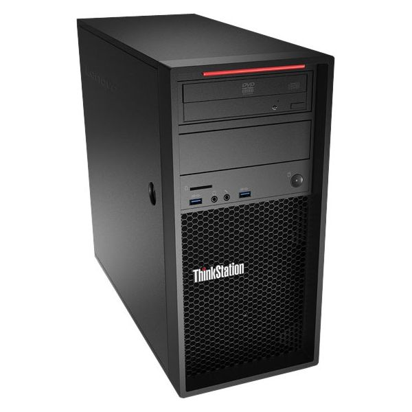 Lenovo ThinkStation P310 30AT000FUS Tower Workstation - 1 x Processors Supported - 1 x Intel Xeon E3-1245 v5 Quad-core (4 Core) 3.50 GHz - Raven Black