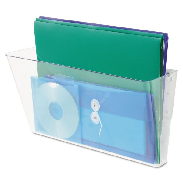 deflecto Stackable DocuPocket Wall File, Legal, 16 1/4 x 4 x 7, Clear