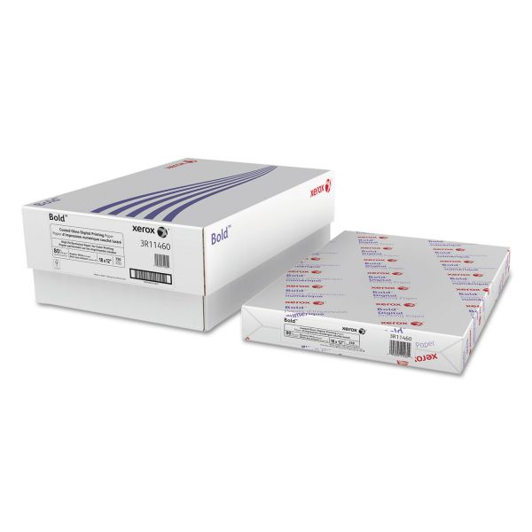 Xerox Bold Coated Gloss Digital Printing Cover Paper, 12 x 18, White, 250 Sheets/PK