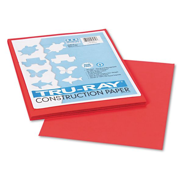 Tru-Ray Red Construction Paper