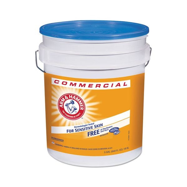 Arm & Hammer HE Compatible Liquid Detergent, Unscented, 5 gal Pail