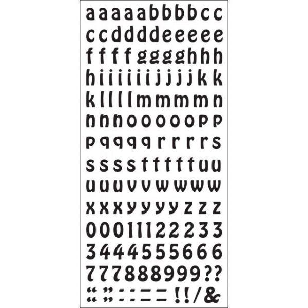 Rub-On Alphabet